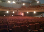 The Wheeler Opera House during tech run-through, which my little iPhone photo doesn't do any justice to