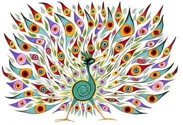 The Peacock by Alex Beard
